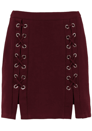 Olympiah lace up detail Messina skirt - Red