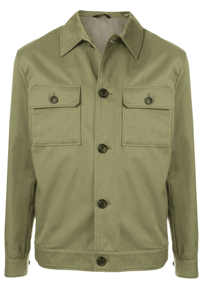 Gieves & Hawkes lightweight buttoned jacket - Green