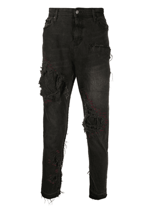 VAL KRISTOPHER distressed jeans - Grey
