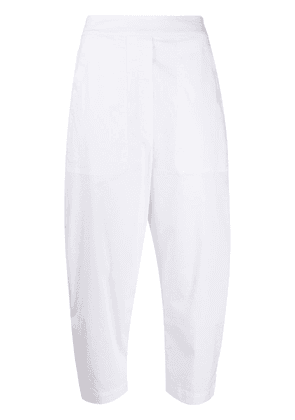 Semicouture cropped carrot leg trousers - White
