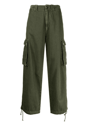 Semicouture cropped cargo trousers - Green