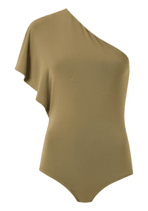 Andrea Marques one shoulder bodysuit - Green