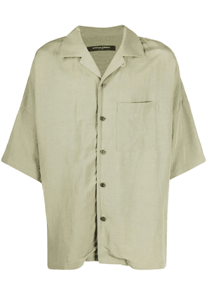Attachment oversized patch-pocket bowling shirt - Green