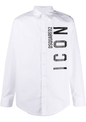 Dsquared2 ICON long-sleeve shirt - White