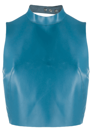 Manokhi Carrie cropped top - Blue