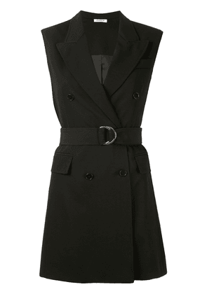 P.A.R.O.S.H. sleeveless belted shirt - Black