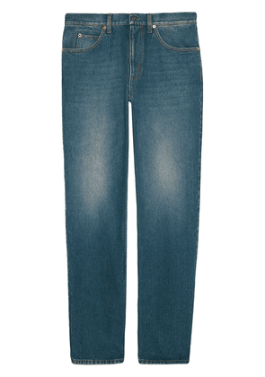 Gucci washed-effect straight leg jeans - Blue