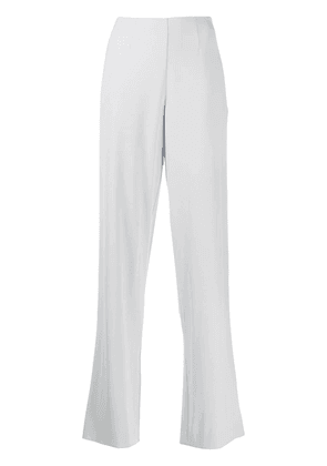 Off-White high-waisted palazzo trousers - Blue