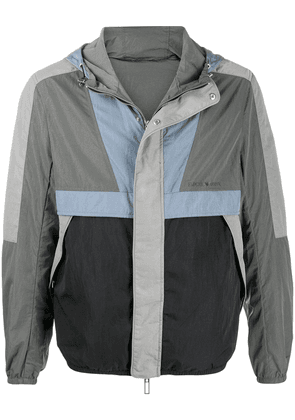 Emporio Armani colour block hooded jacket - Green