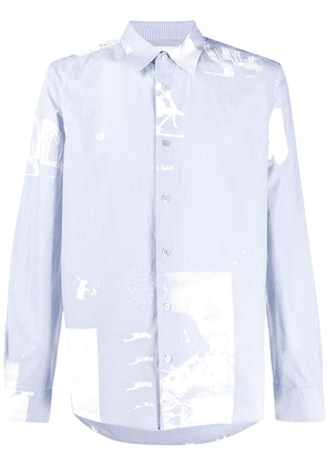Paul Smith paint splatter-effect shirt - Blue