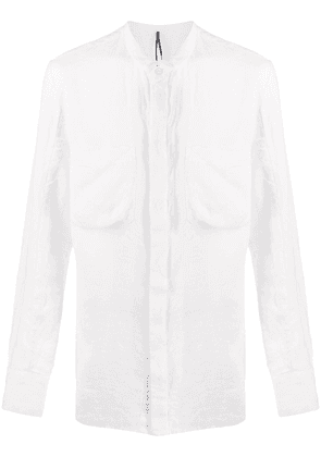 Masnada grandad collar shirt - White