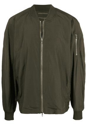 Attachment zipped-up jacket - Green