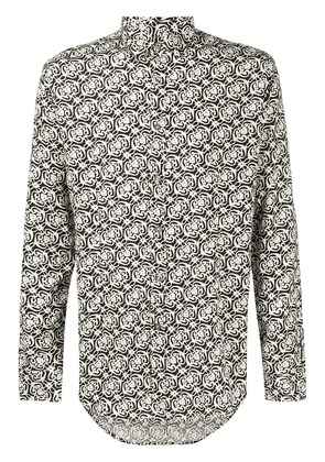 Daniele Alessandrini abstract-print shirt - Black