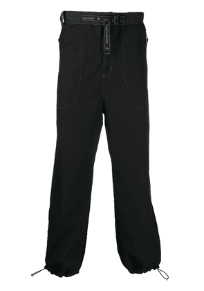 and Wander drawstring tapered trousers - Black