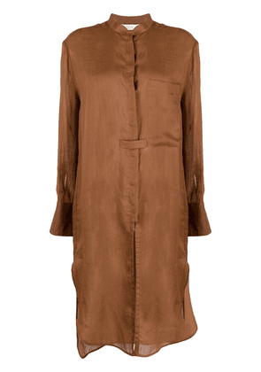 Tela long-line shirt - Brown
