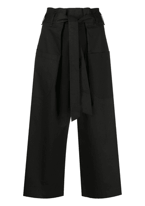 Semicouture wide-leg cropped trousers - Black