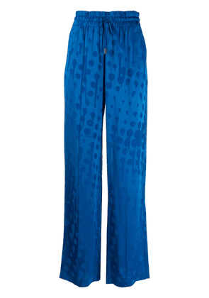 Off-White abstract pattern palazzo pants - Blue