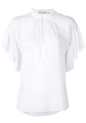 Alice+Olivia Julius ruffle sleeve tunic top - White