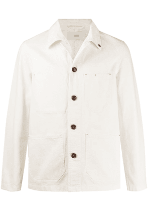 Closed patch pocket chore jacket - White