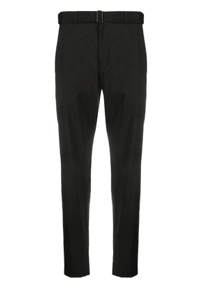 Theory belted slim-fit trousers - Black