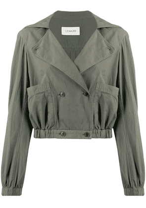 Lemaire double-breasted cropped jacket - Grey