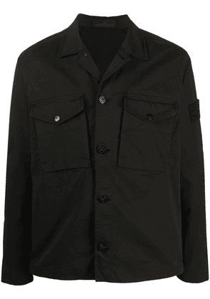 Stone Island buttoned shirt jacket - Black