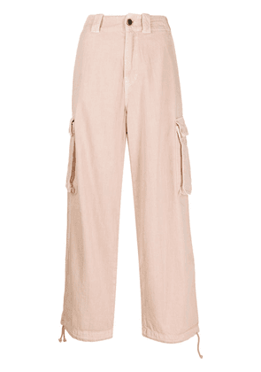 Semicouture cropped cargo trousers - PINK