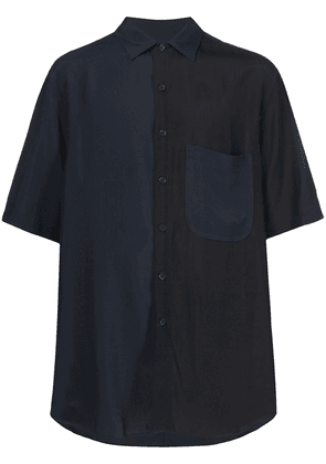 Song For The Mute short sleeve oversize shirt - Blue