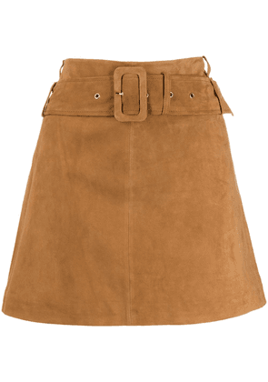 Arma belted mini skirt - Brown