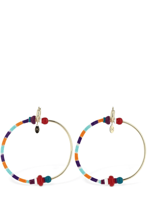 Half Knit Big Hoop Earrings