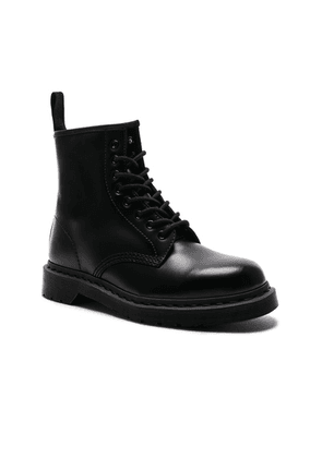 Dr. Martens 1460 8-Eye Mono Boot in Black Mono - Black. Size 12 (also in 10,11,8,9).