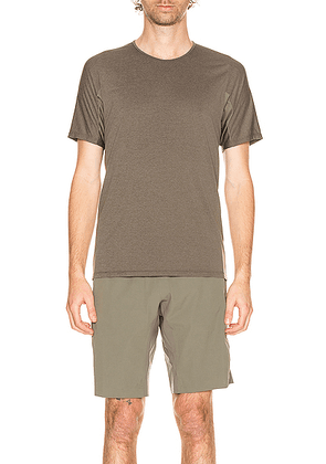 Arc'teryx Veilance Cevian Comp Short Sleeve Tee in Clay - Grey. Size M (also in L,S).