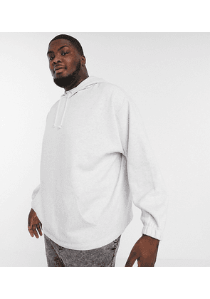 ASOS DESIGN Plus oversized hoodie in white marl