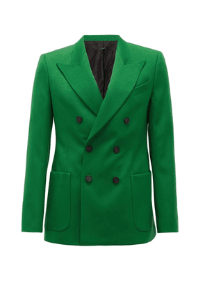 Givenchy - Double-breasted Peak-lapel Crepe Jacket - Mens - Green