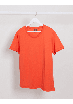 ASOS DESIGN t-shirt with scoop neck in coral-Pink