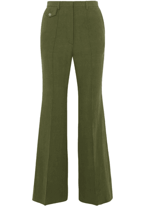 Golden Goose Deluxe Brand Agata Linen Flared Pants Woman Leaf green Size S