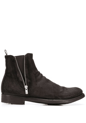 Officine Creative textured side zip ankle boots - Brown