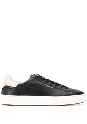 Woolrich perforated low-top trainers - Black