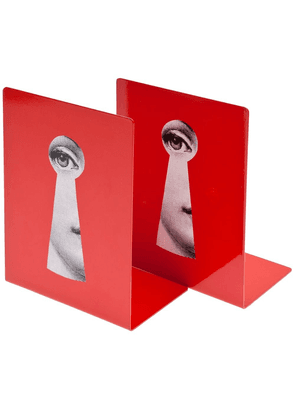 Fornasetti keyhole bookends - Red
