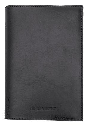 Ann Demeulemeester smooth note book - Black