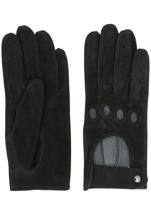 Manokhi textured style cut-out detail gloves - Black