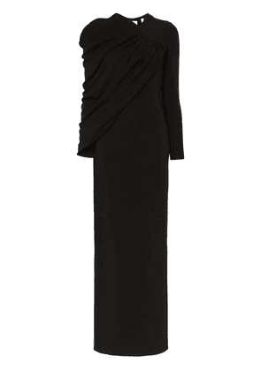Burberry draped gown - Black