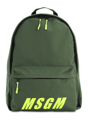 Logo Print Tech Canvas Backpack