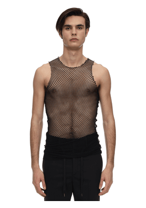 Long Tech Net Tank Top