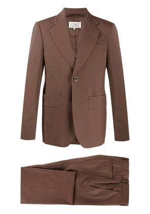 Maison Margiela single-breasted two-piece suit - Brown