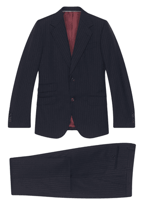 Gucci pinstriped two-piece suit - Blue