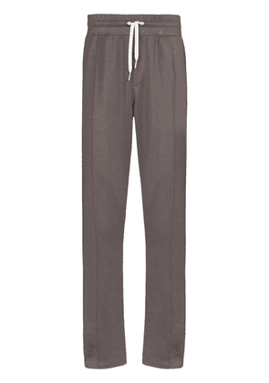 AMI side stripe logo embroidered track pants - Grey