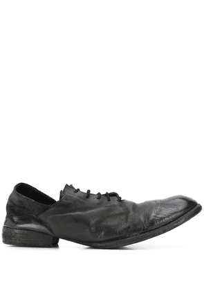 Masnada distressed lace-up shoes - Black