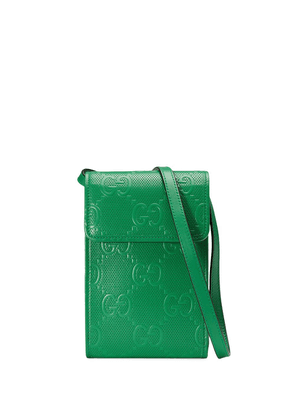 Gucci GG logo-embossed mini bag - Green