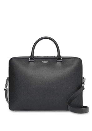 Burberry Grainy Leather Briefcase - BLACK